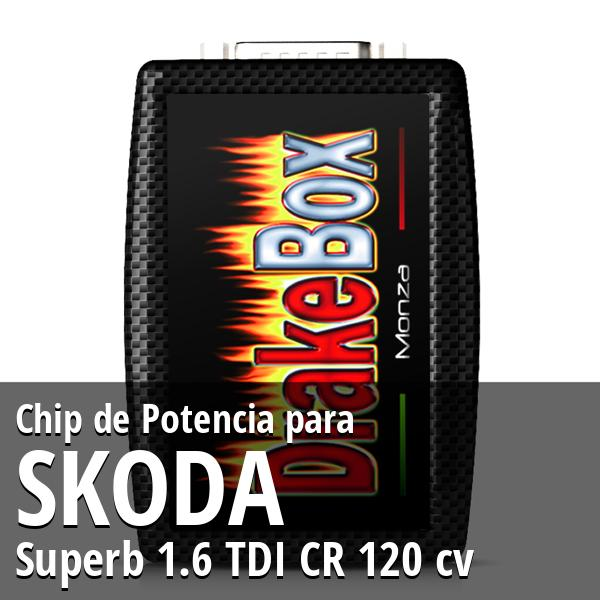 Chip de Potencia Skoda Superb 1.6 TDI CR 120 cv